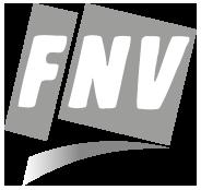 FNV logo in grijstonen