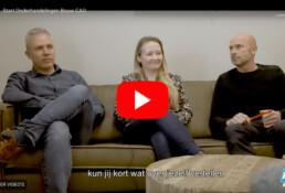 Screenshot van het filmpje dat de onderhandelaars van FNV over de cao Bouw&Infra voorstelt.